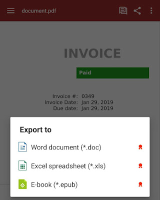 Export PDF to Word document (doc) in OfficeSuite