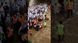 Viral Video Banjir di Mina Saat Ibadah Haji