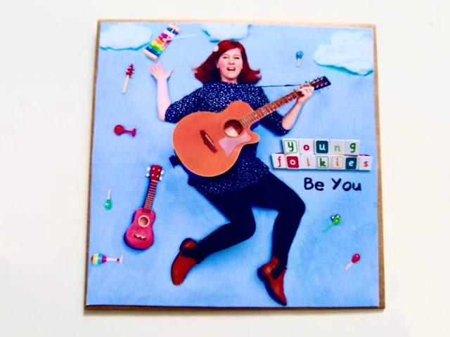 The CD packaging for Young Folkies debut folk album aimed at babies and toddlers