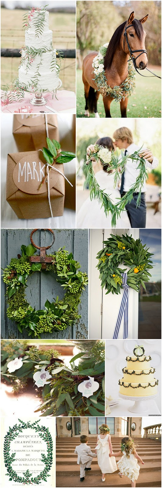 there are so many creative ways to add a little bit of green to your wedding | via Oh Lovely Day