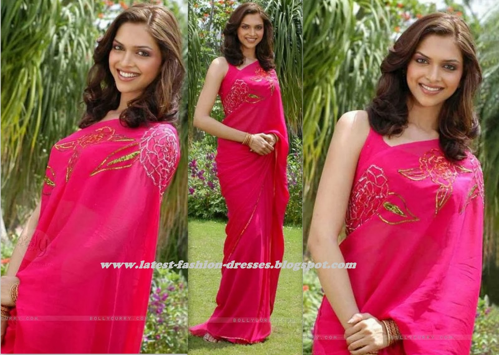 BOLLYWOOD DEEPIKA PADUKONE IN PINK SAREE