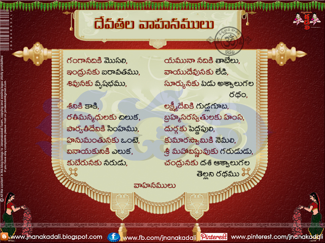 The Vehicles of Gods and Goddesses Dharmasangehaalu in telugu,Hindu Gods and Their Animal Vehicles or Vahana's,Vedic Mantra List for Hindu Gods and Goddesses,Devatala vahanamulu-known Dharma sandehalu, Dharma sandehalu in Telugu, Telugu devotional information, Bhakti information in Telugu, Telugu dhama Sandehalu with detail information, Bhakti information in Telugu, Ancient Dharma Sandehalu information in Telugu, Ancient  Monks Sayings About God, Dharma Sandehalu information in Telugu