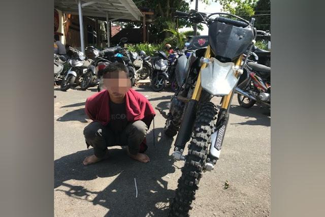 Apes, pemuda asal Sikur kepergok Polisi saat sedang geret motor hasil curiannya