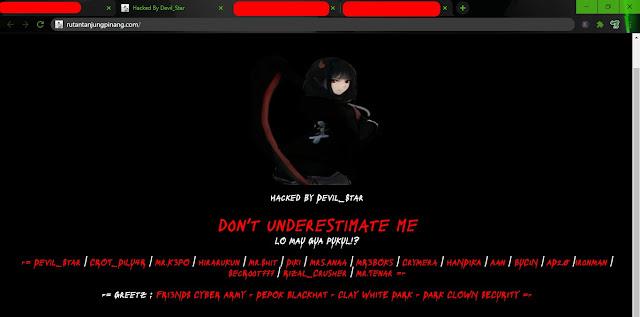 5 Situs Website RuTan (Lapas) Berhasil Dihack
