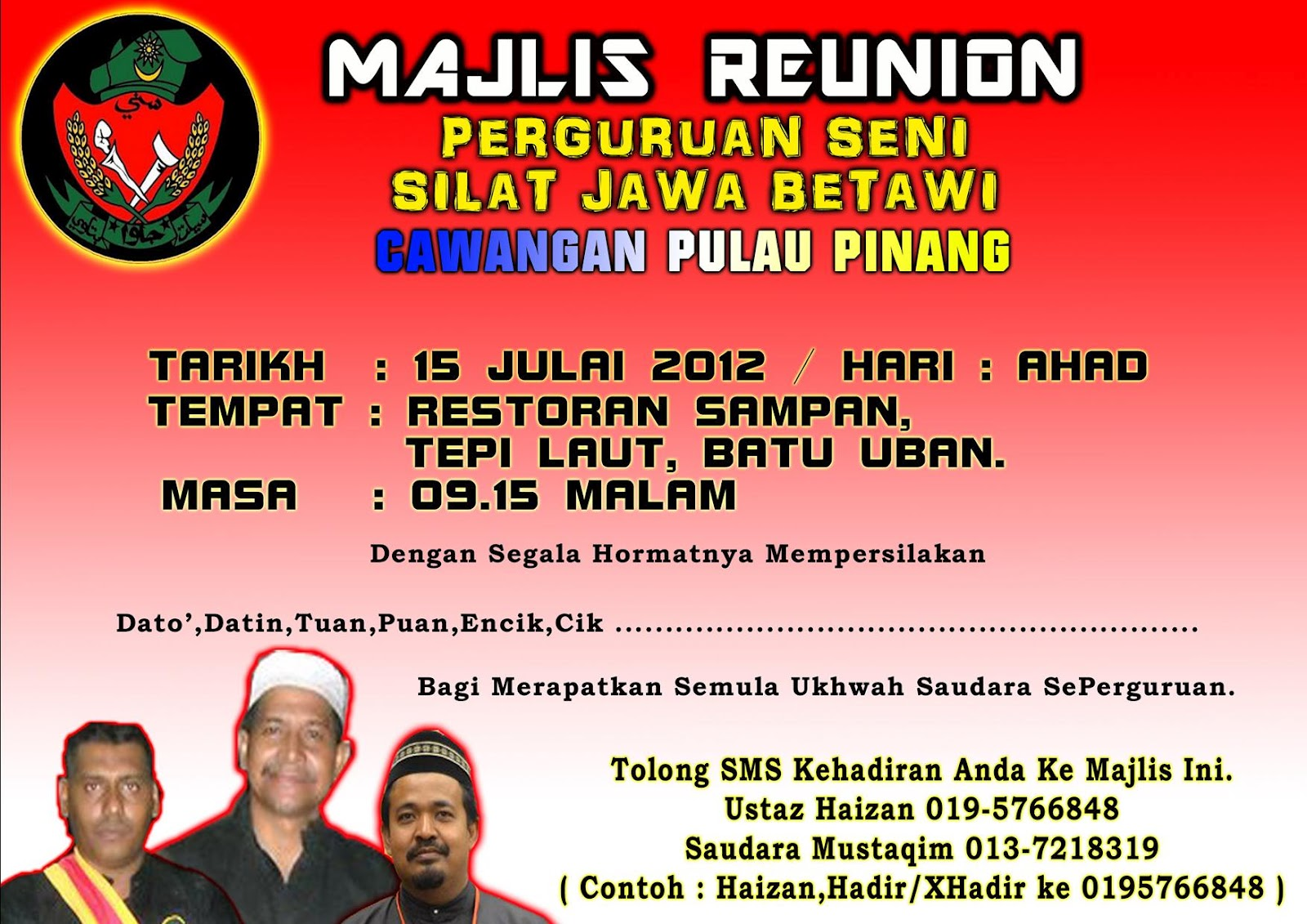 P S S J B Pulau Pinang Majlis Reunion