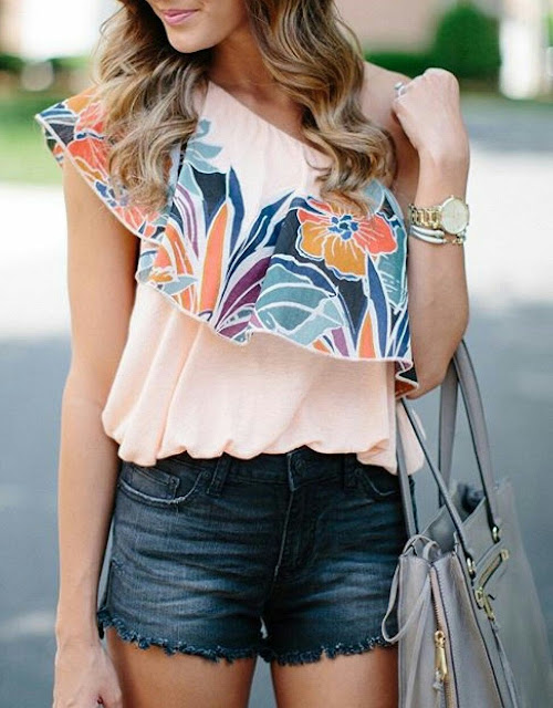 Sleeve less top with short skirt