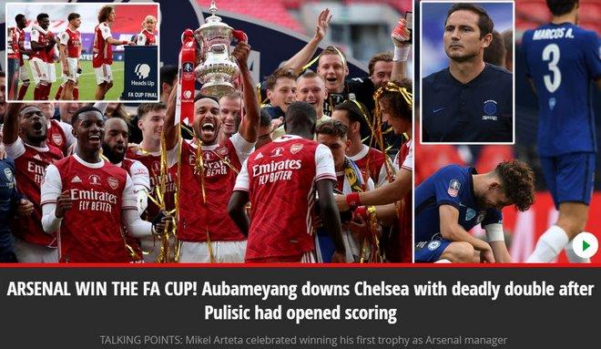 Arsenal vô địch FA Cup: Người hùng Aubameyang bùng nổ, báo chí Anh ngả mũ 2