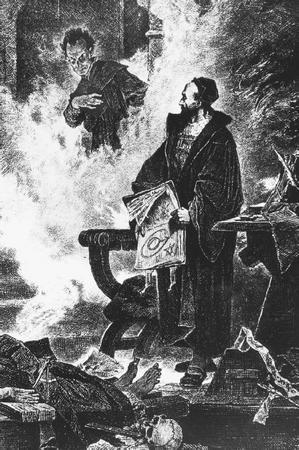 Mefistófeles aparece para Fausto - Mephistopheles appearing to Faust.