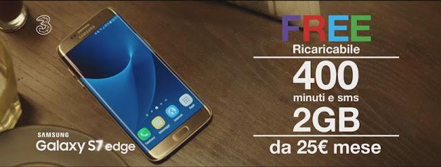 Canzone Pubblicità 3 Tre con Samsung Galaxy S7 e offerta FREE