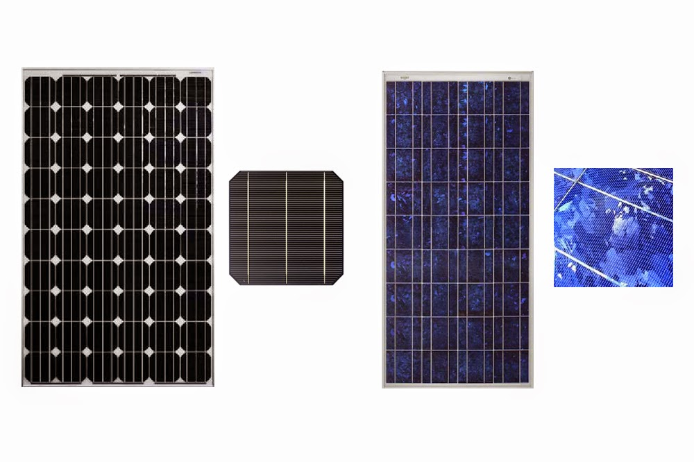 Jardín Solar: ¿Monocristalino o policristalino?