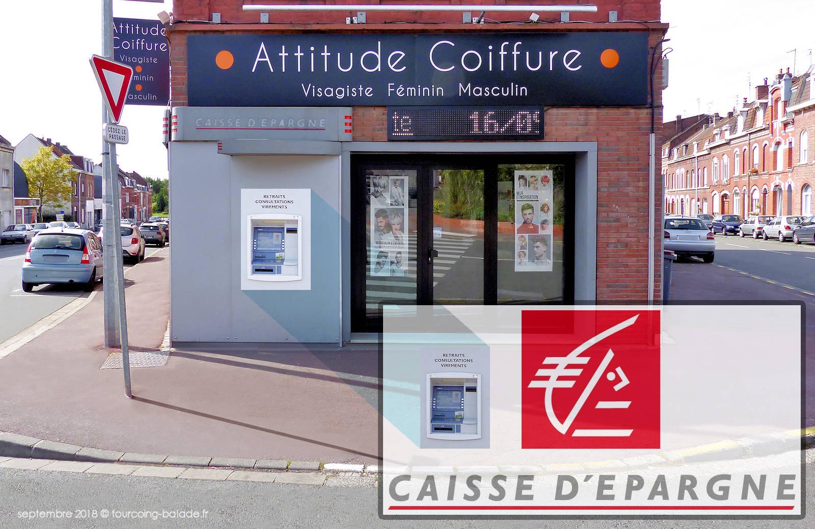 Distributeur Caisse d'épargne - Tourcoing rue de la Vigne