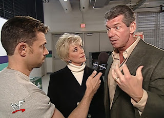 WWE / WWF Survivor Series 2001 - Michael Cole interviews Vince n Linda McMahon