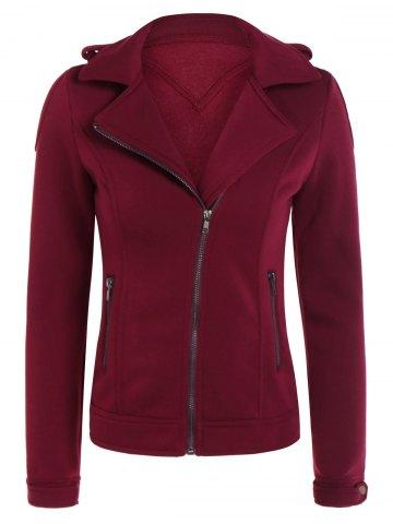 Burgundy biker jacket