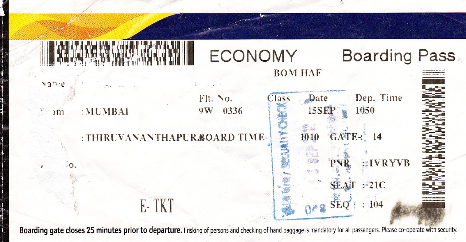 The Traveler S Drawer Jet Airways India Boarding Pass For