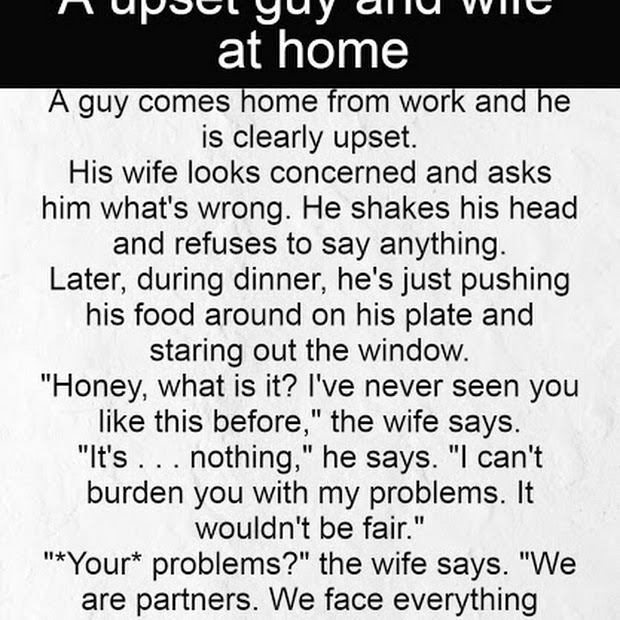 A upset guy and wife at home
