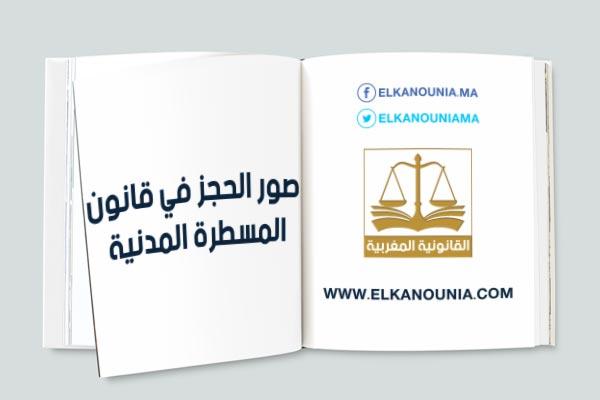 مقال بعنوان: أنواع الحجز في قانون المسطرة المدنية والاجتهاد القضائي المغربي  PDF