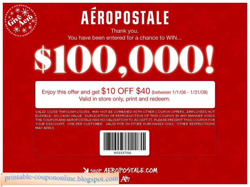 20 off aeropostale coupon codes amp printable coupons 2019 - 800×600