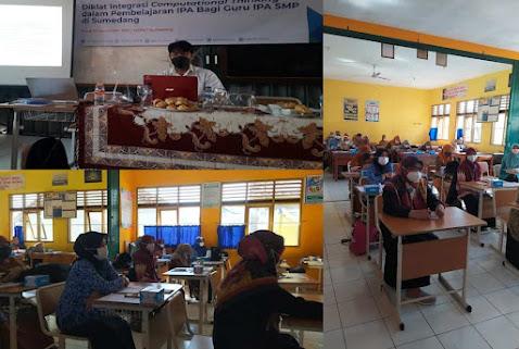 Pelatihan ini dilaksanakan untuk membekali para guru IPA di Kabupaten Sumedang  Khususnya, mampu dan  dapat mengaplikasikan pengetahuan dan keterampilan yang diperoleh selama pelatihan  dalam memfasilitasi pembelajaran IPA yang mengintegrasikan  Computational Thinking (CT) pada jenjang SMP.   Kementrian Pendidikan dan Kebudayaan pada tahun 2020 telah  menyatakan bahwa CT  sebagai salah satu kompetensi yang akan masuk kedalam sistem pembelajaran anak Indonesia. Sehingga generasi muda  Indonesia melek Literasi Digital.   Selain itu untuk mempersiapkan Pelajar Indonesia dalam menghadapi penyelenggaraan PISA tahun 2021 dimana kemampuan CT siswa-siswi dari negara pesertanya untuk pertama kalinya akan diukur dengan mengintegrasikan CT dalam sub-pengukuran bidang Matematika.  SEAMEO QITEP in Science (QITEP) merupakan pusat dari 24 pusat Regional Southeast Asian Minister Educational Organization (SEAMEO) memiliki tugas  dan fungsi dalam meningkatkan kompetensi para pendidik dan tenaga kependidikan di bidang Sains untuk cakupan regional Asia Tenggara. dalam mendukung pendidikan abad 21.