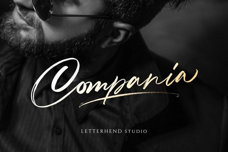 Compania Font - Free Brush Script Typeface