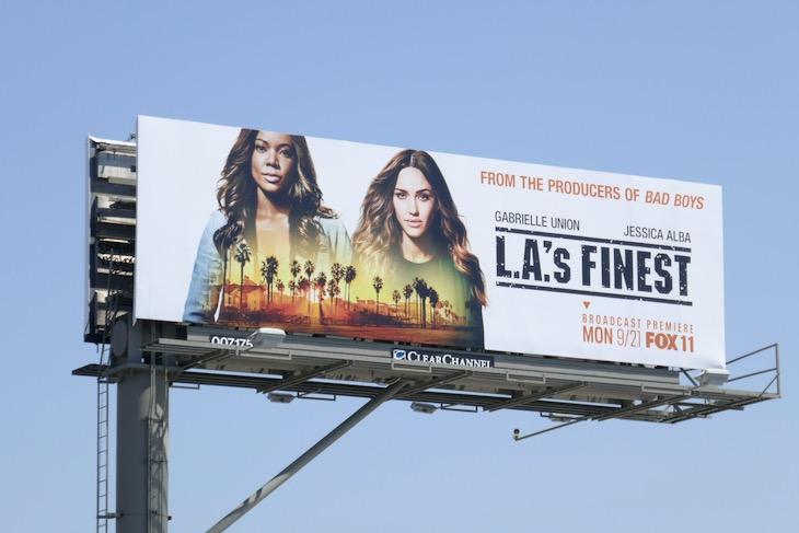 LAs Finest TV billboard