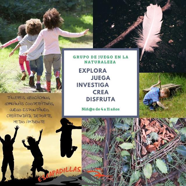 Grupo de juegos en la Naturaleza con - escapadillas.com