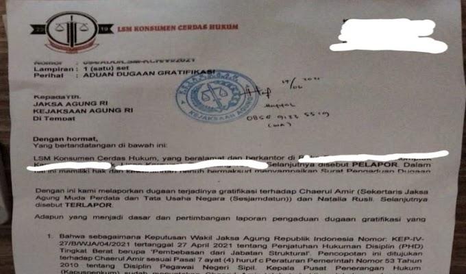 Soal Dugaan Gratifikasi, LSM KCH Resmi Layangkan Surat Proses Pidana Mantan Sesjamdatun