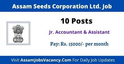 Assam Seeds Corporation Recruitment 2021