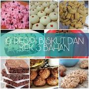10 Resipi Biskut dan Kek Guna 3 Bahan Untuk Juadah Hari Raya