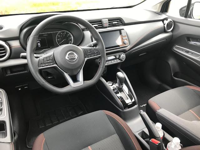 Instrument panel in 2020 Nissan Versa