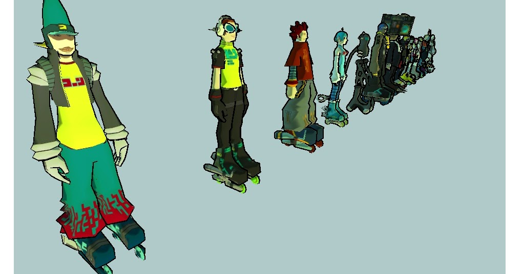 JSRF Inside The Art Of Jet Set Radio Future JSRF Characters View Them In 3D