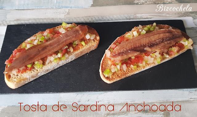 Recetas y a cocinar se ha dicho tosta de sardina anchoada - Como cocinar sardinas ...