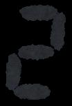 デジタル数字のイラスト文字(2)