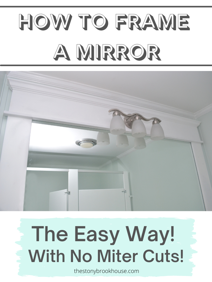 How To Frame A Bathroom Mirror - The Easy Way