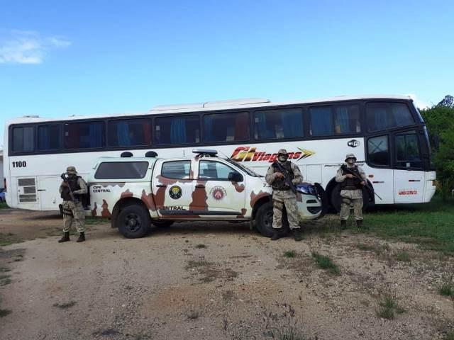 Cipe Central intercepta em Jequié ônibus que seguia para São Paulo