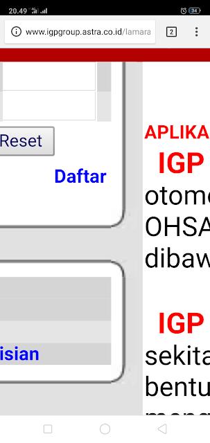 Lowonga Kerja Astra IGP | Cara Daftar Pendaftaran online di Astra IGP