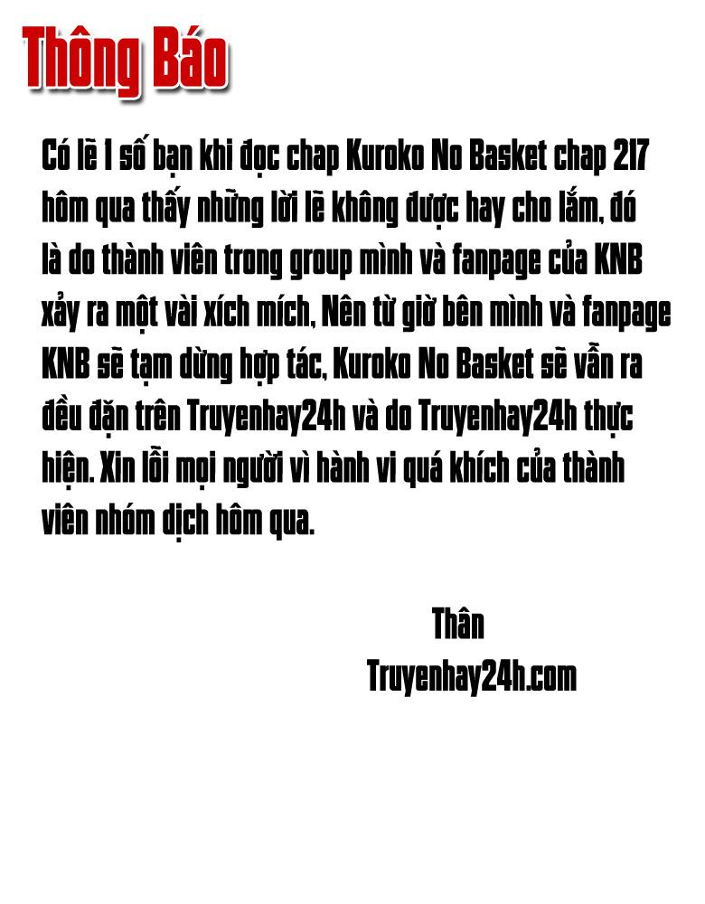 Kuroko No Basket chap 218 trang 1