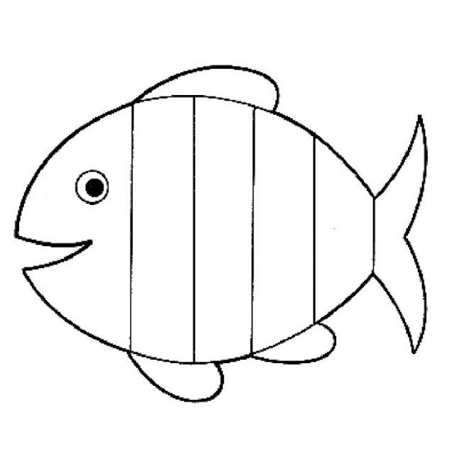 سمكة للتلوين