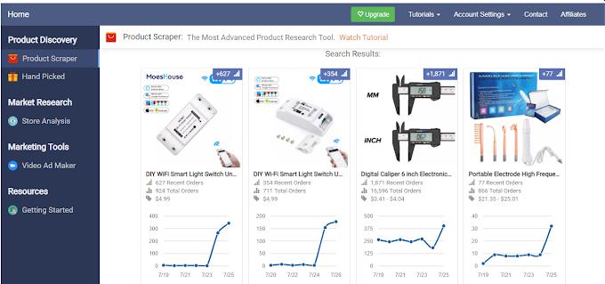 اداة تساعدك على ايجاد اكثر المنتجات مبيعا على الانترنت مجانا