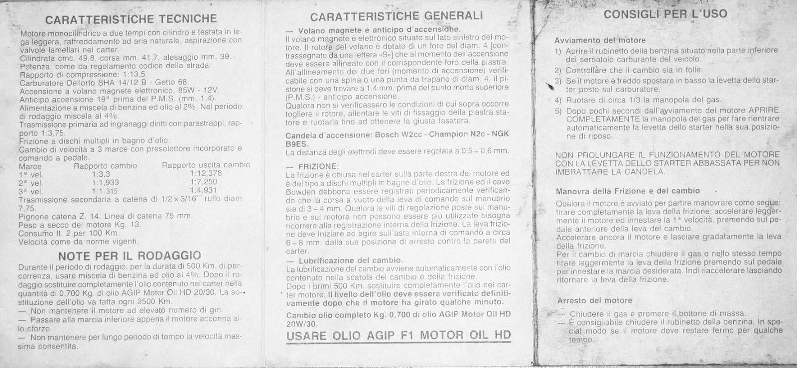 Malaguti Fifty: Libretto uso e manutenzione motore Franco