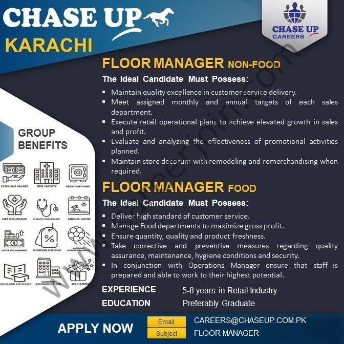 careers@chaseup.com.pk - Chase Up Jobs 2021 in Pakistan