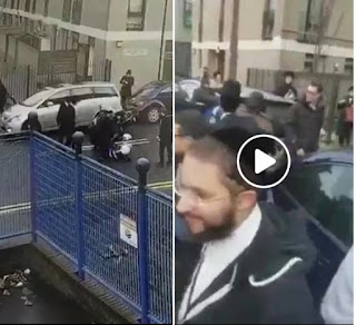 A l'est de Londres des juifs attaquent un policier
