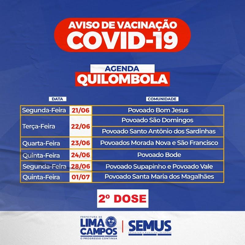 Comunidades quilombolas de Lima Campos recebem a 2ª dose da vacina contra a Covid-19