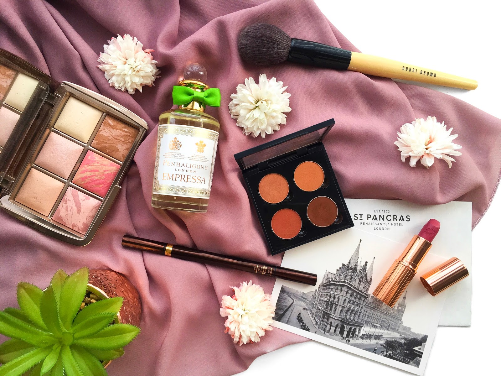 penhaligons empressa review, hourglass ambient lighting edit volume 1, charlotte tilbury secret salma review, anastasia beverly hills custom quad, bobbi brown powder brush, tom ford eye defining pen