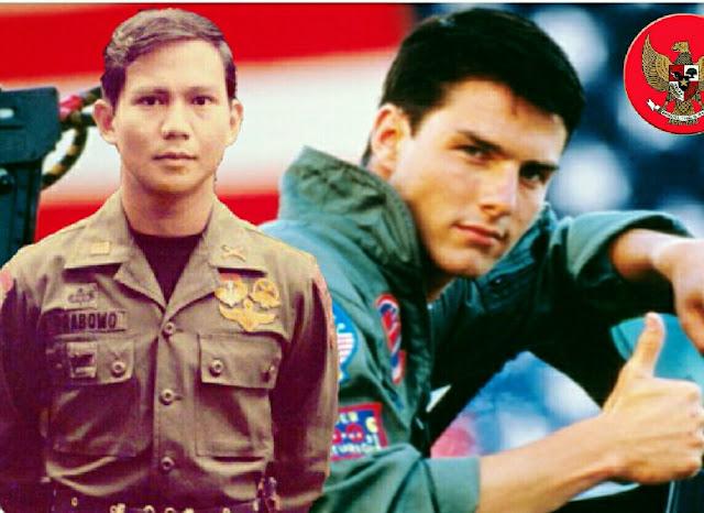 Fotonya Disandingkan dengan Tom Cruise, Respon Prabowo Mengejutkan
