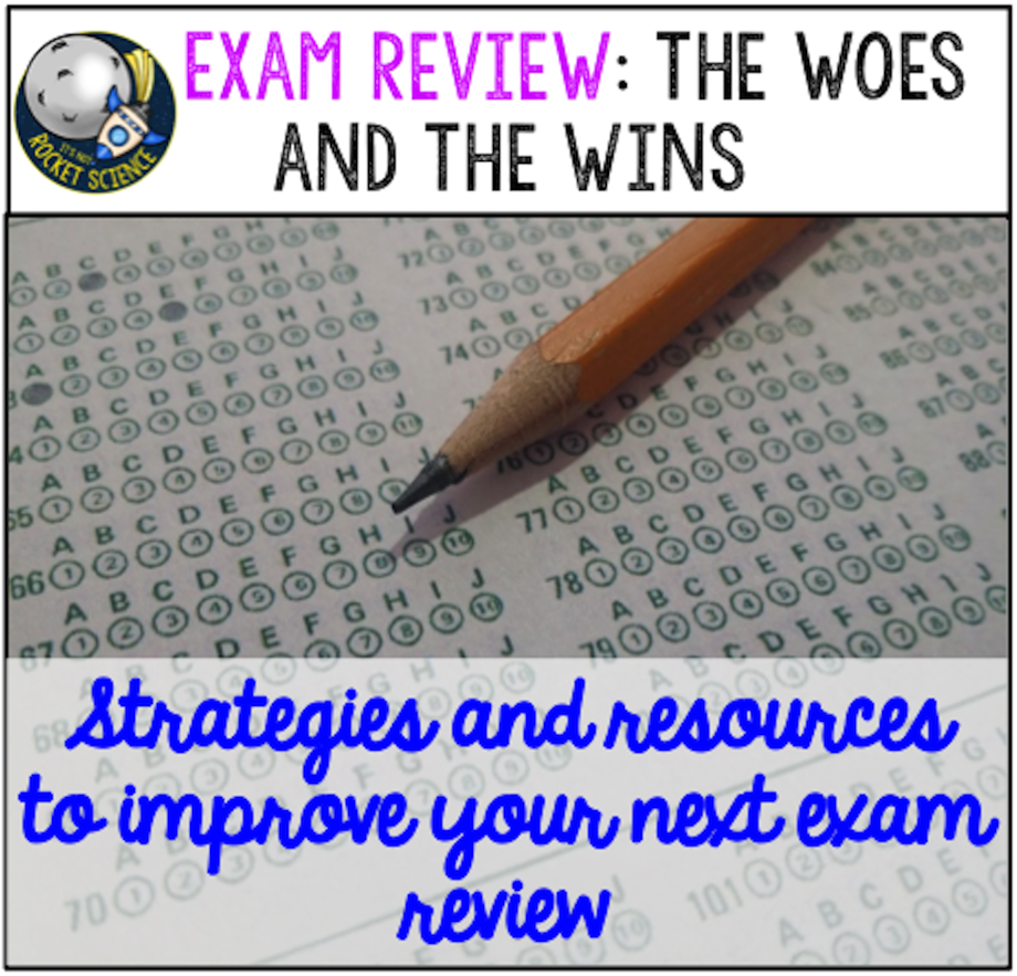 Surviving end of year exam or EOC review can be a struggle.  Here are some tips, strategies, and resources to help improve your exam review! By: It's Not Rocket Science