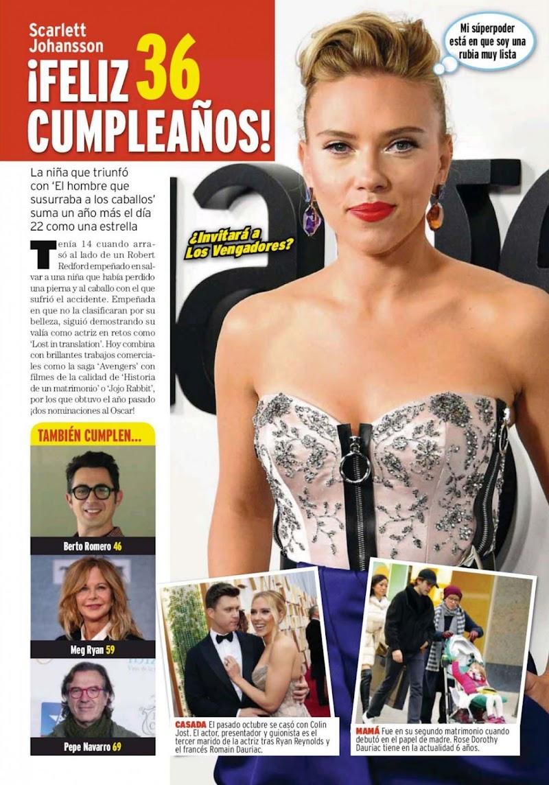 Scarlett Johansson Featured in Qmd! Magazine - Spain November 2020