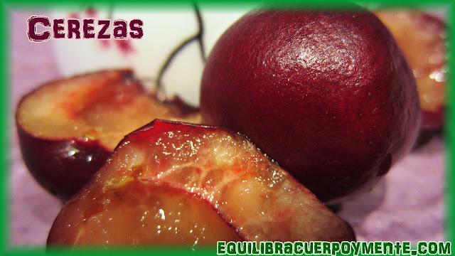 Cerezas. Beneficios de las cerezas.
