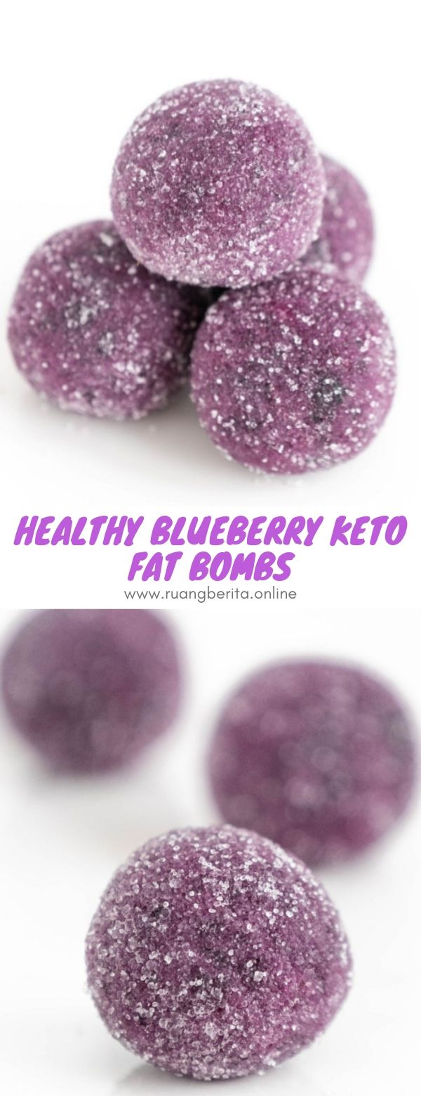 Healthy Blueberry Keto Fat Bombs #snack #vegan #healthy #blueberry #keto #fat #bombs