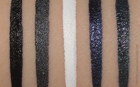 Make Up For Ever Aqua XL Ink Liners Swatches M-10 L-12 M-14 L-20 M-22