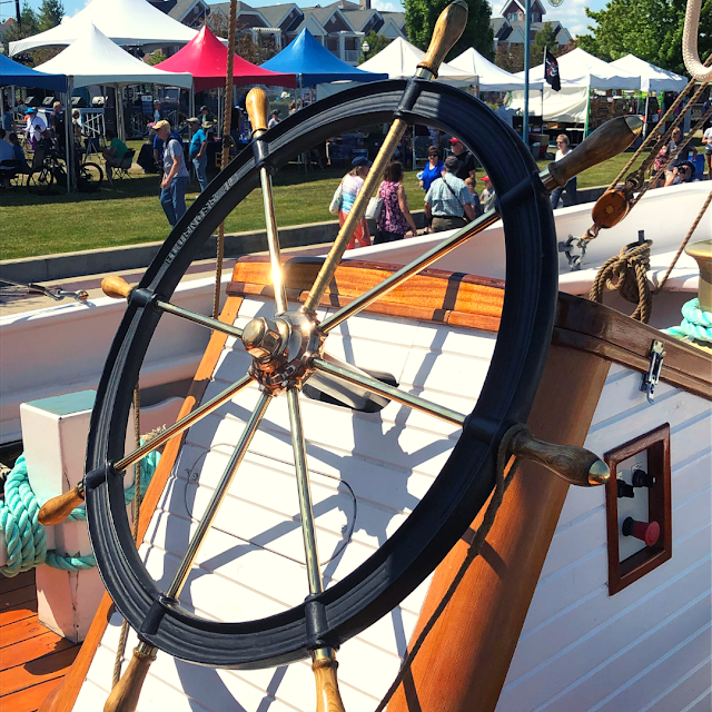 Captain's Wheel on the Bluenose II